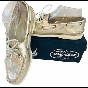 Sperry Top-Sider Gold Metallic Boat Shoes